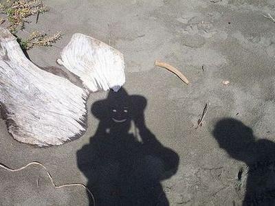 今にも動きだしそうな影で遊んで...