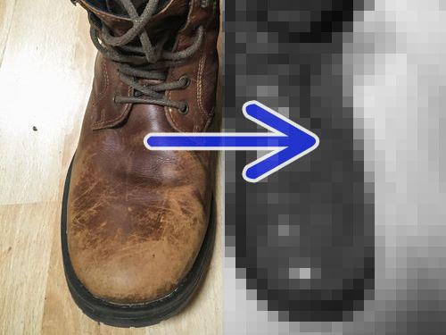 本革のブーツを磨いたら00