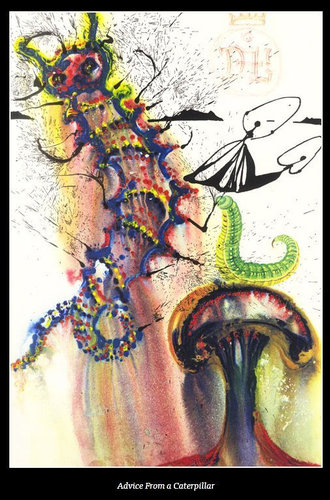 ダリが描いた不思議の国のアリス06