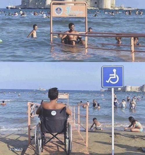 トルコには車イスの人用のビーチアクセスがある01