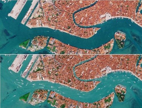 宇宙から見たベネチア運河02