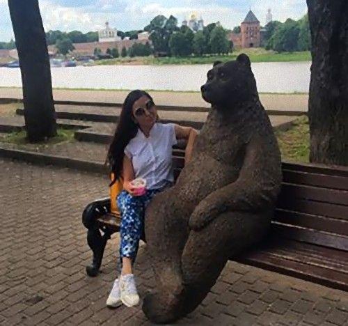 ロシアのクマの像04