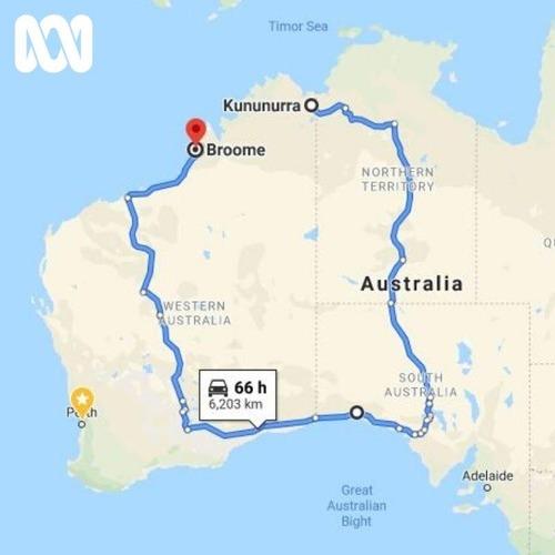 オーストラリアの道がふさがると01