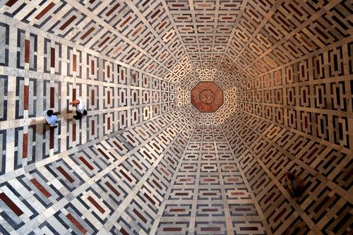 フィレンツェの大聖堂の模様01