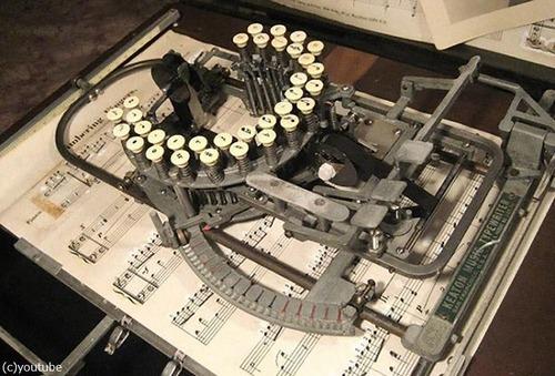 楽譜のタイプライター02