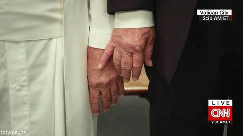 ローマ法王とトランプ大統領01