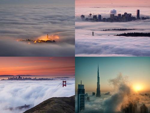 雲に覆われた都市00