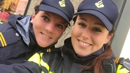 携帯を拾った女性警官01