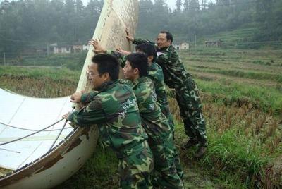 中国のロケットの落下物06