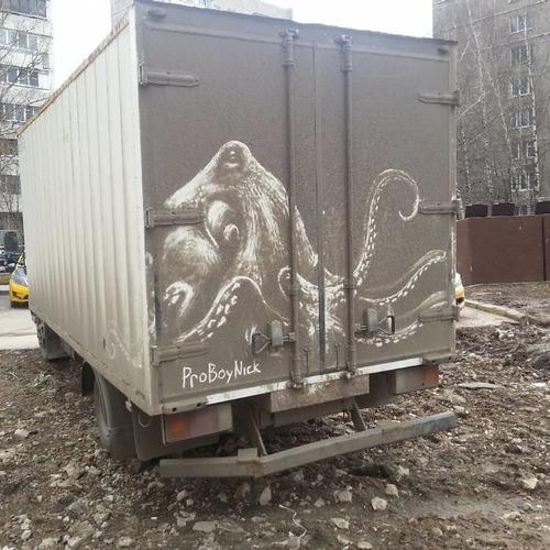 汚れたトラックアート01