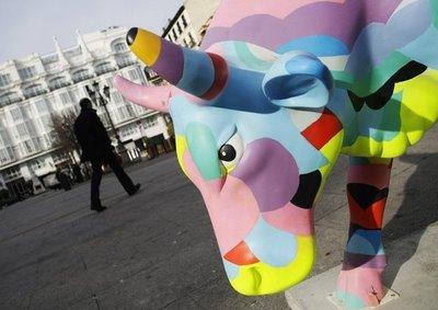 スペインの面白牛彫刻07