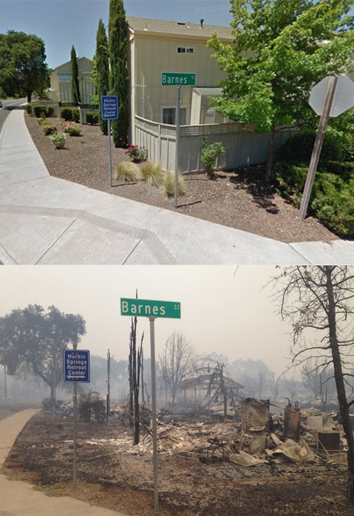 カリフォルニアの火事01