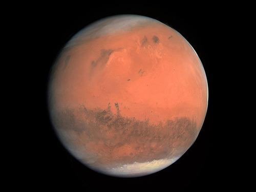 火星のクレーターに積もった雪00