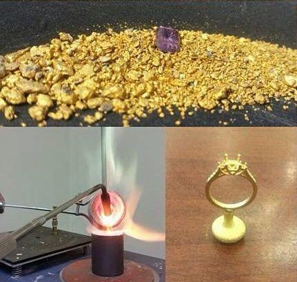 自分で金を採掘して、婚約指輪を作った03