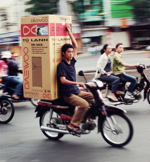バイクで物を運ぶ限界04