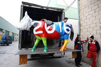 スペインの面白牛彫刻12
