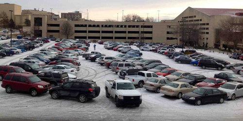 駐車場のラインが見えないとき01