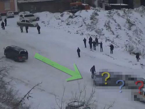 ロシアの凍結道路