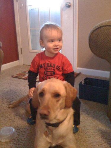 息子と愛犬の友情13