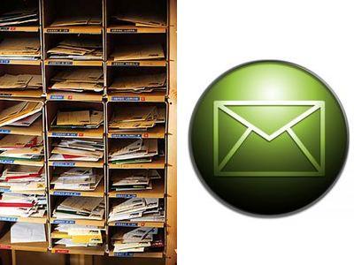 紙の手紙をEメールに
