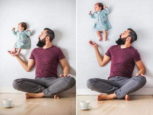 赤ちゃんの浮遊写真02