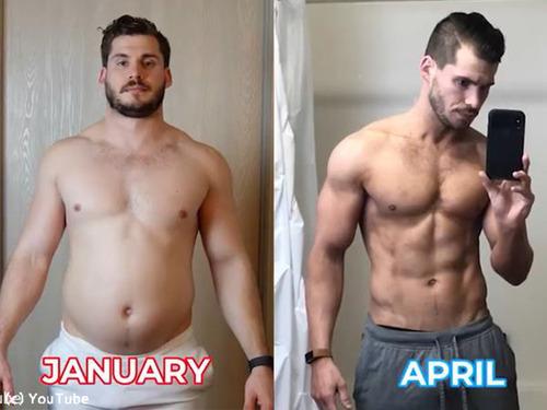 男性の3か月のダイエット動画00