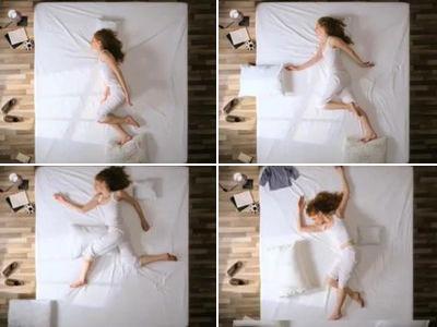 ベッドでアニメーション