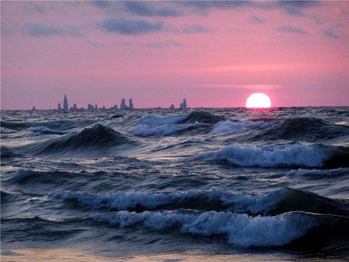 インディアナ州から見たシカゴ04