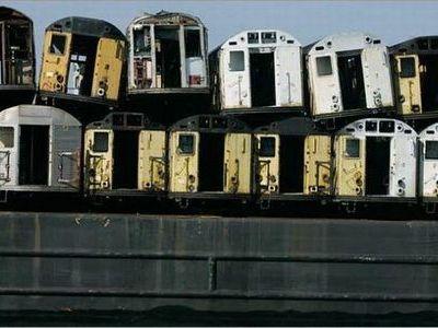 引退した地下鉄車両の処分00
