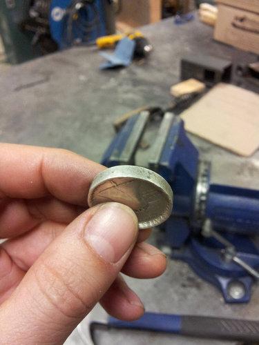 コインから作ったリング01