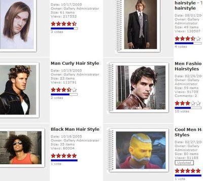 クールなヘアスタイルサイト