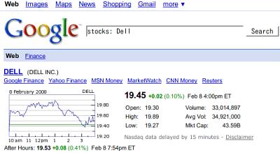 株価のグラフまで出てくる!