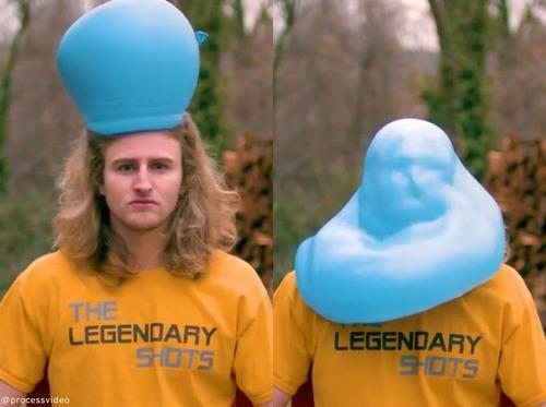 水風船が帽子みたいに00