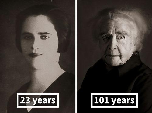 100歳越えの人の若い頃11