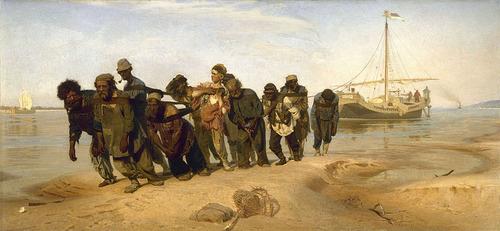 イリヤ・レーピン「ヴォルガの舟曳き」