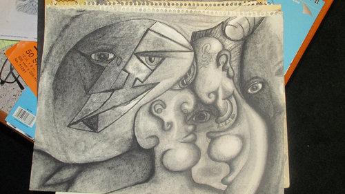 統合失調症の囚人が描いた絵05