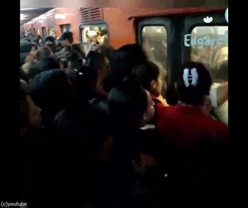 「日本の満員電車とメキシコの満員電車」05