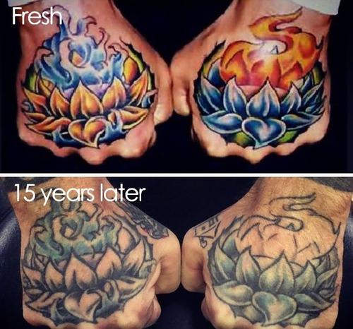 タトゥーの劣化13