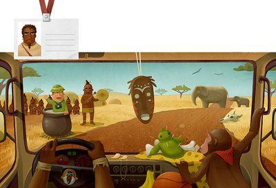 車の運転席から見る世界各国のイメージ12