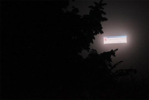 電光掲示板が夜にエラー01