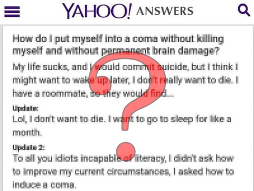 Yahooアンサーの質問