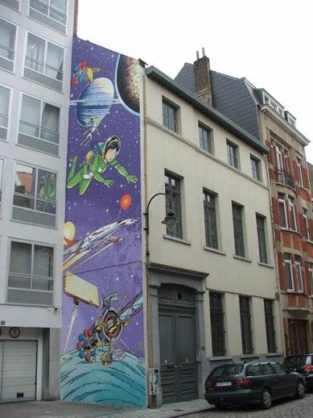 ベルギー・ブリュッセルに描かれたコミックス・グラフィティ16