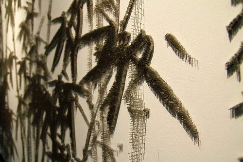 水墨画のような「釘」アート08