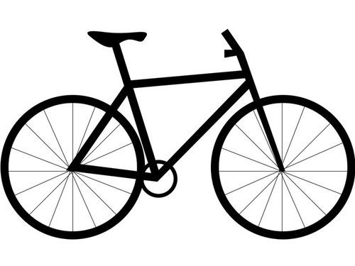 ビニールテープを貼っただけでシンプソンズっぽくなった自転車00