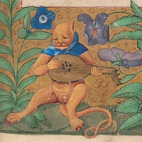 中世の絵画に登場する「猫」02