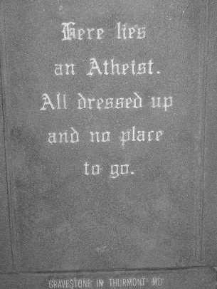 無神論者の墓石