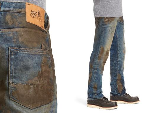 前もって汚したジーンズ02