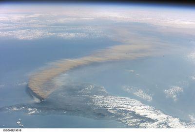 エトナ山の噴火(2001年10月)