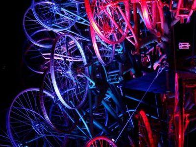 自転車クリスマスツリー00