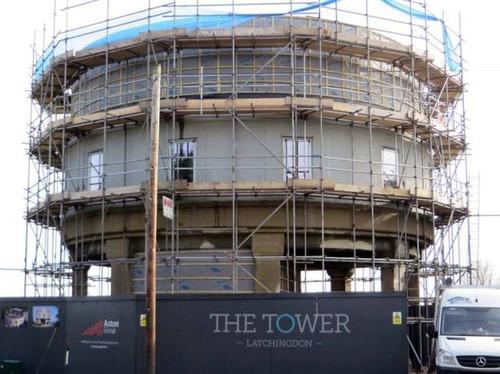 給水塔を自宅にリフォーム03